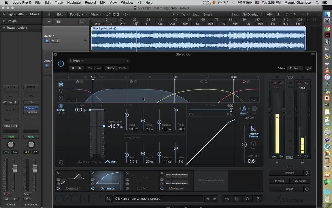 """Alter Ego"" in progress. Applying multiband compressor to the mix.  #technomusic #electronicmusic #logicpro pic.twitter.com/O1flF0ejxz"