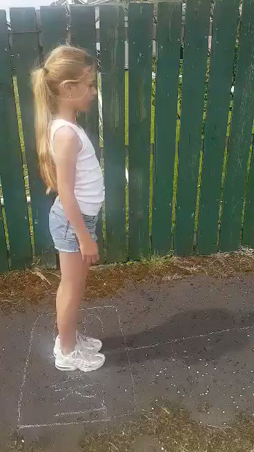 Well done Kaitlin for keeping fit with this pavement circuit