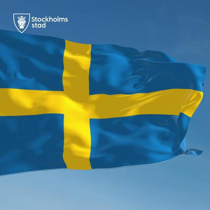 Ha en fin nationaldag 🇸🇪 Fira med avstånd och ta hand om varandra ❤️  Syntolkning: Svenska flaggan vajar i vinden. https://t.co/5q2lvDyH2H