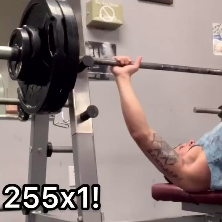 Let's fucking goooo! 255 Raw! #fitness #gym #workout #fit #fitnessmotivation #motivation #bodybuilding #training #health #fitfam #lifestyle #sport #crossfit #healthy #love #gymlife #healthylifestyle #personaltrainer #instagood #muscle #exercise #weightloss #gymmotivation pic.twitter.com/5Rwu3iFSRv