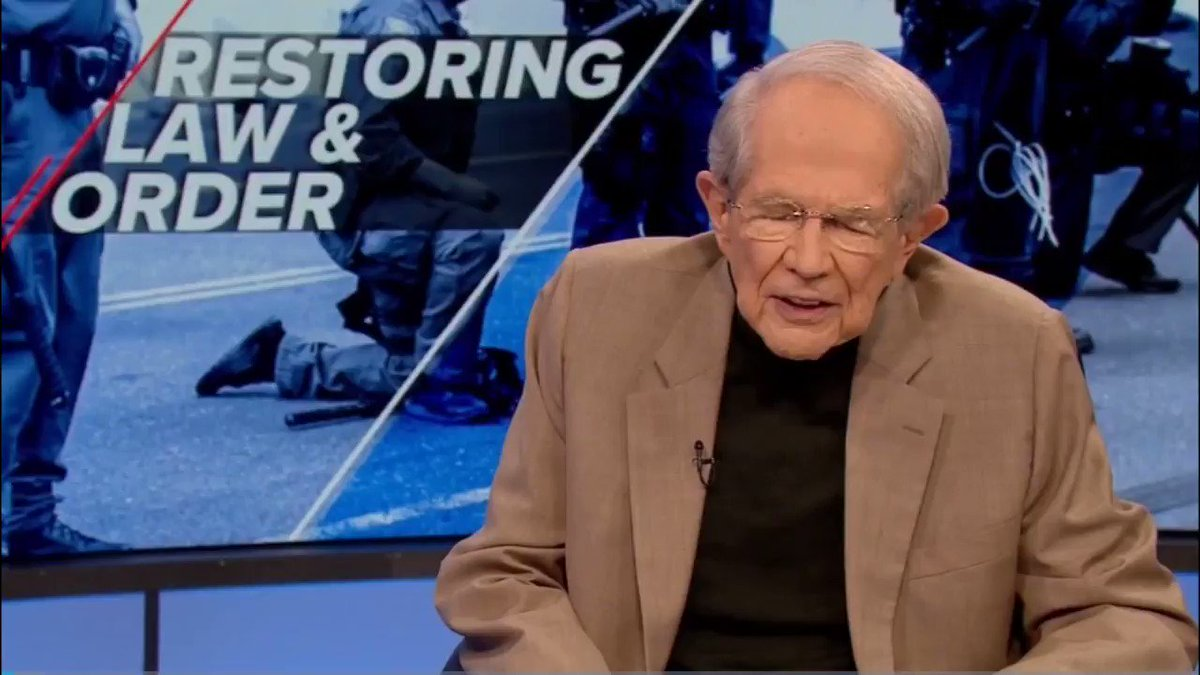 "Pat Robertson tells Trump that his response to the George Floyd protests ""isn't cool."""