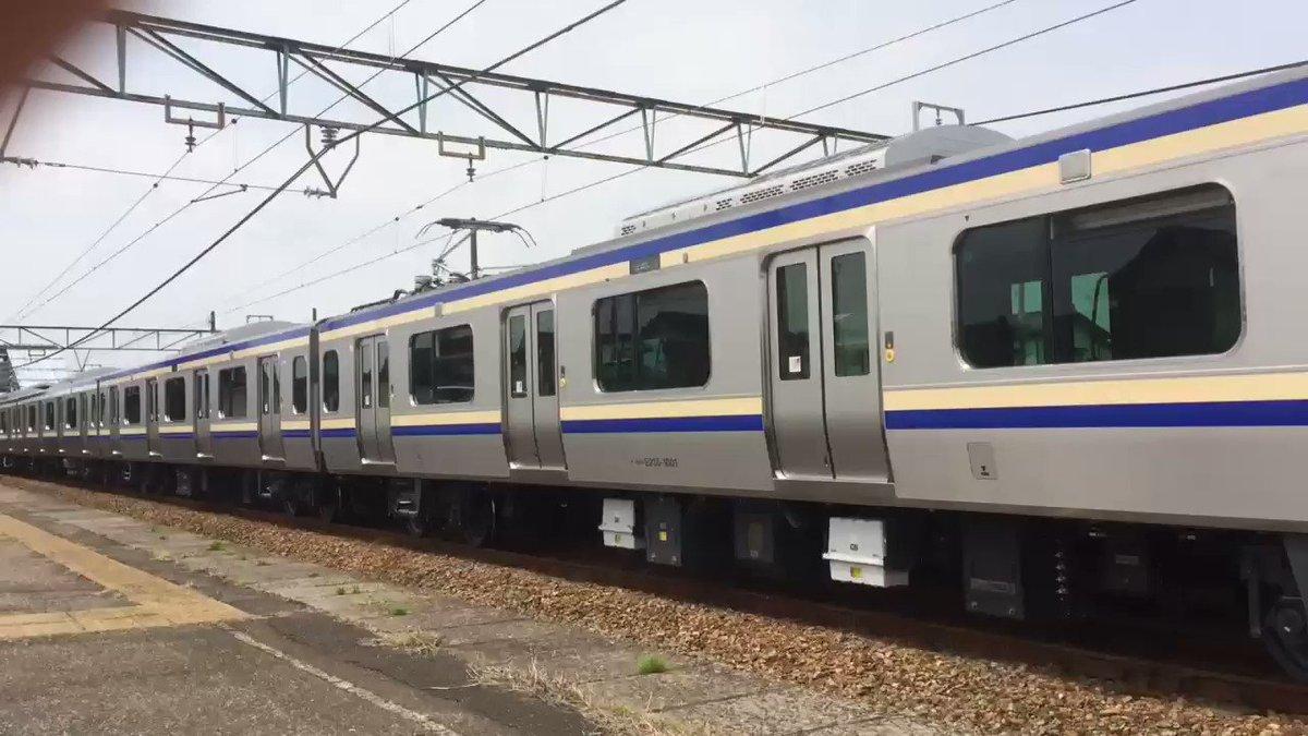 横須賀総武線仕様のE235系の加速音です。従来の山手線仕様の車両とは異なった音がします。