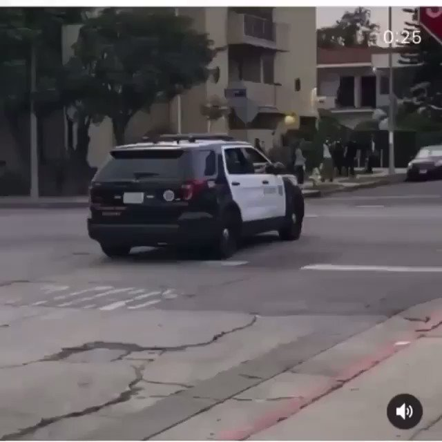 LAPD is doing drive-bys now #protest #PoliceBrutality