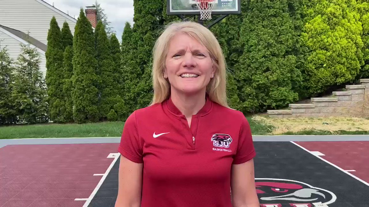 """Thanks Coach Cindi Griffin '87 for taking part in Bishop McDevitt's """"virtual"""" Sports Banquet. All the Lancer athletes thank you for your motivational words. #LFL #THWND @AOPathletics @SJUHawks_WBB @CindyGriffin11 @McDevittLancers"""