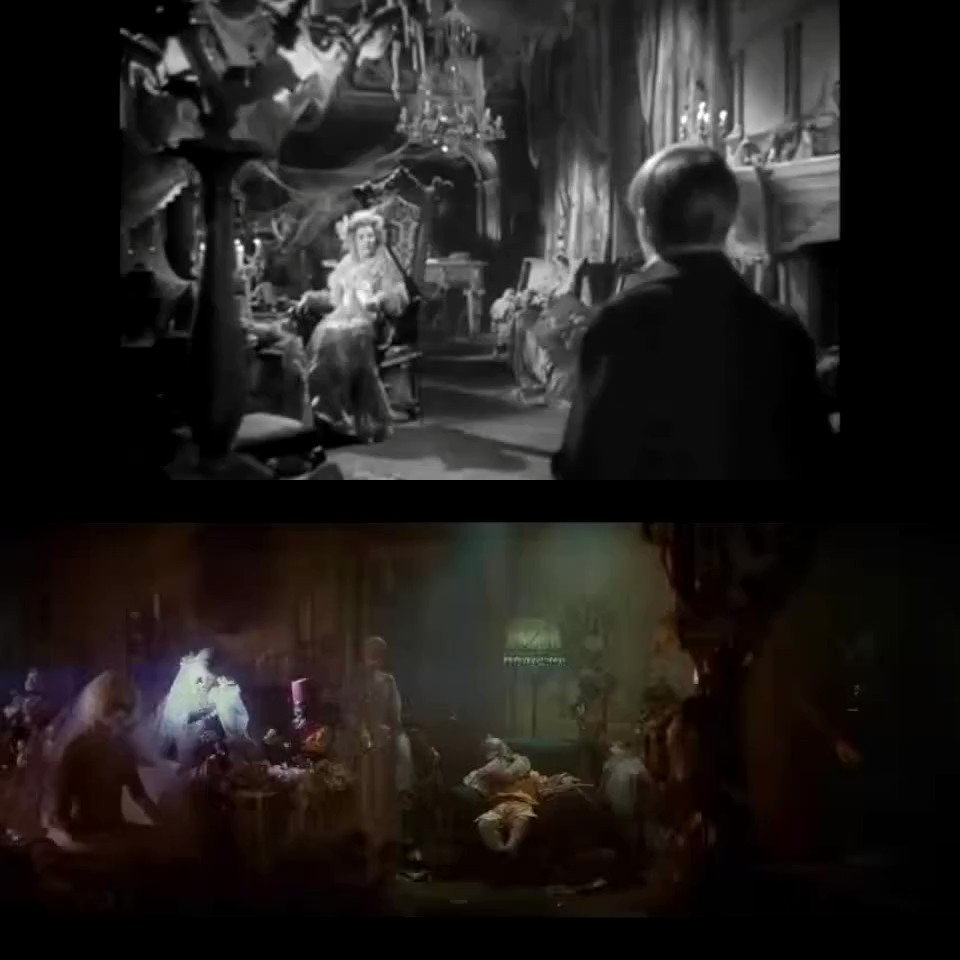 Great Expectations (1946) Dir David Lean Blade Runner (1982) Dir Ridley Scott  Ridely Scott stated in interviews that Lean's film is an influence. This sequence in Blade Runner always reminds me of the detailed production design in Miss Havisham's mansion.   #filmtwitters #film pic.twitter.com/2uH94SjLNl