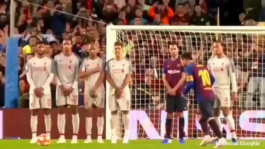 A great free kick by Leo   #Barça pic.twitter.com/kp2M8gPPkD