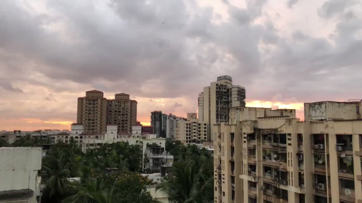 And the end to the #mumbaicyclone that wasn't... a glorious sunset and lots of bird sounds!