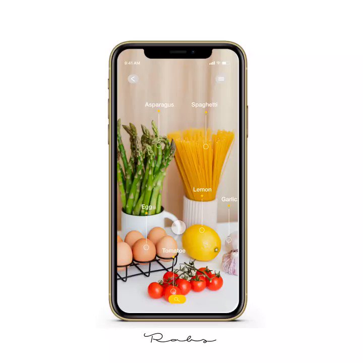 This period got me trying to cook different dishes. Out of that I thought about this concept. Imagine being able to wave your phone over/take a picture of groceries in your kitchen and your phone finding different recepies for you.#colour #ui #ux #food #art #adobe #sketch #design pic.twitter.com/td0tR7LApZ