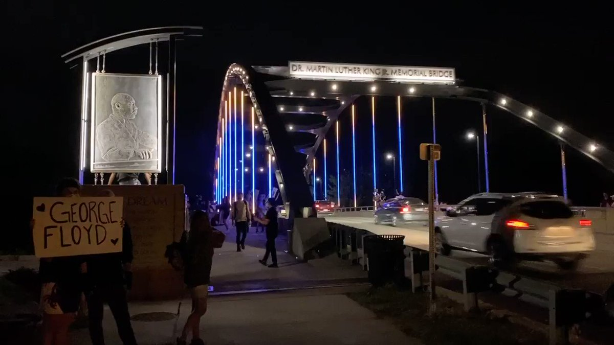 Protest day 6 is winding down at the MLK bridge tonight.