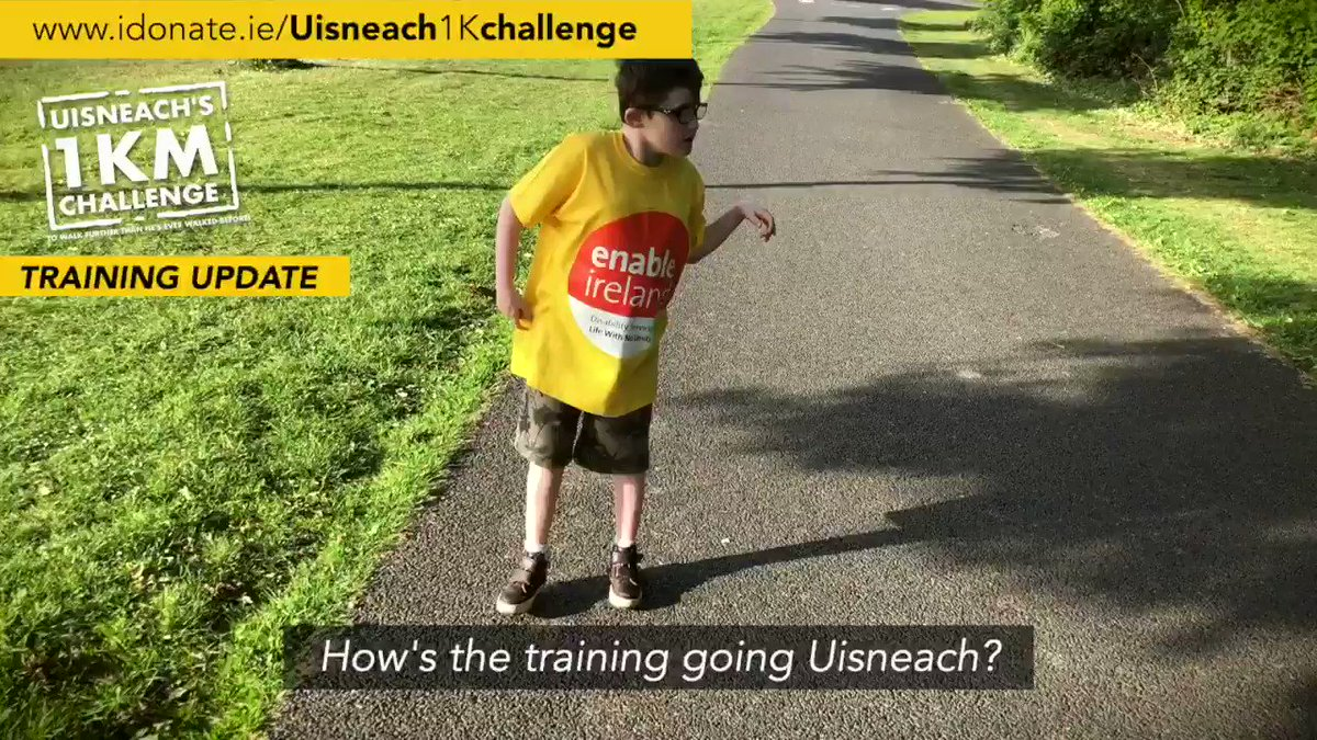 Uisneach 1k Challenge Training Update: Hes been training hard over the last number of weeks (if not years) for this. €10k raised for @EnableIreland already. Just over a week to go to the big day on June 13. Find out more idonate.ie/Uisneach1Kchal… #goUisneach
