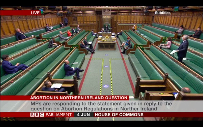 Ian Paisley MP urges the Government to allow the NI Assembly to legislate on abortion matters, and come to its own conclusions.