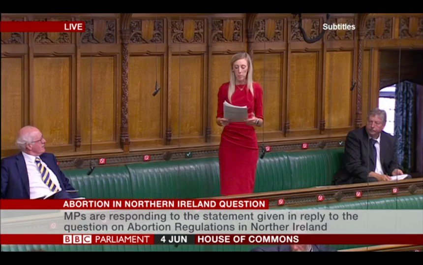 """.@carlalockhart asks the Government to """"recognise both the severe offence these [abortion] regulations pose to people with disabilities, but also that the clear will of the devolved institutions is clear – these regulations are not wanted in Northern Ireland."""""""