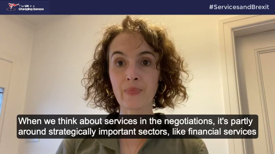 Why is the outcome of the negotiations important for the service sector? 🤔 @drsarah_hall explains in less than 50 seconds. READ more in our NEW report out today: ukandeu.ac.uk/wp-content/upl… #ServicesandBrexit