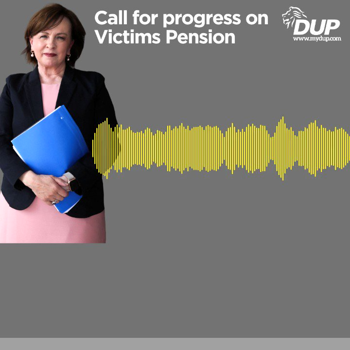 .@DianeDoddsMLA earlier today calling for a Department to be nominated to administer the victims pension in Northern Ireland.