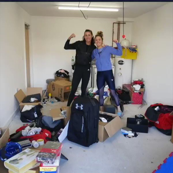 Hands up if you need a gym set-up like this during Lockdown 🙋♀️ 📽️ @jadejonestkd @BiancaW_tkd