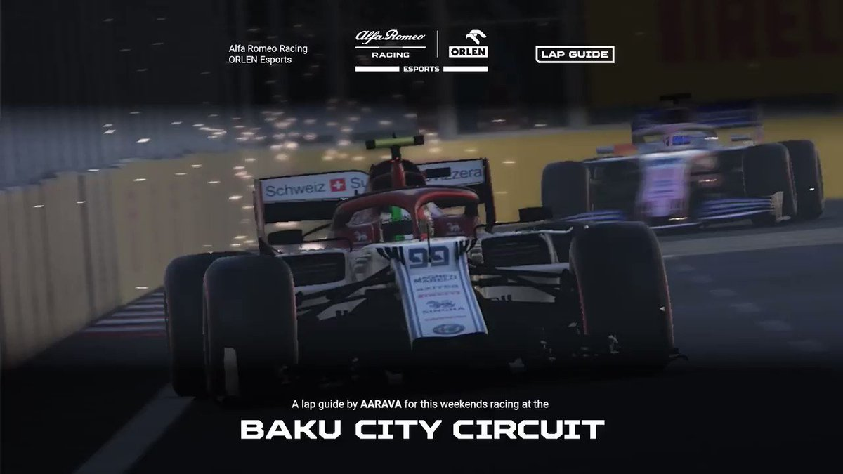 Its all about Baku this weekend 🇦🇿 🔴 #NotTheGP Baku by @VeloceEsports 🔴The Virtual GP Baku by @F1 To get you up to speed @_aarava has hit us up with a track guide 🙌 #F1 #F1esports