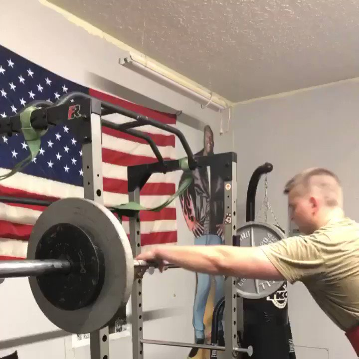 Image for the Tweet beginning: EASY 185 lb overhead press