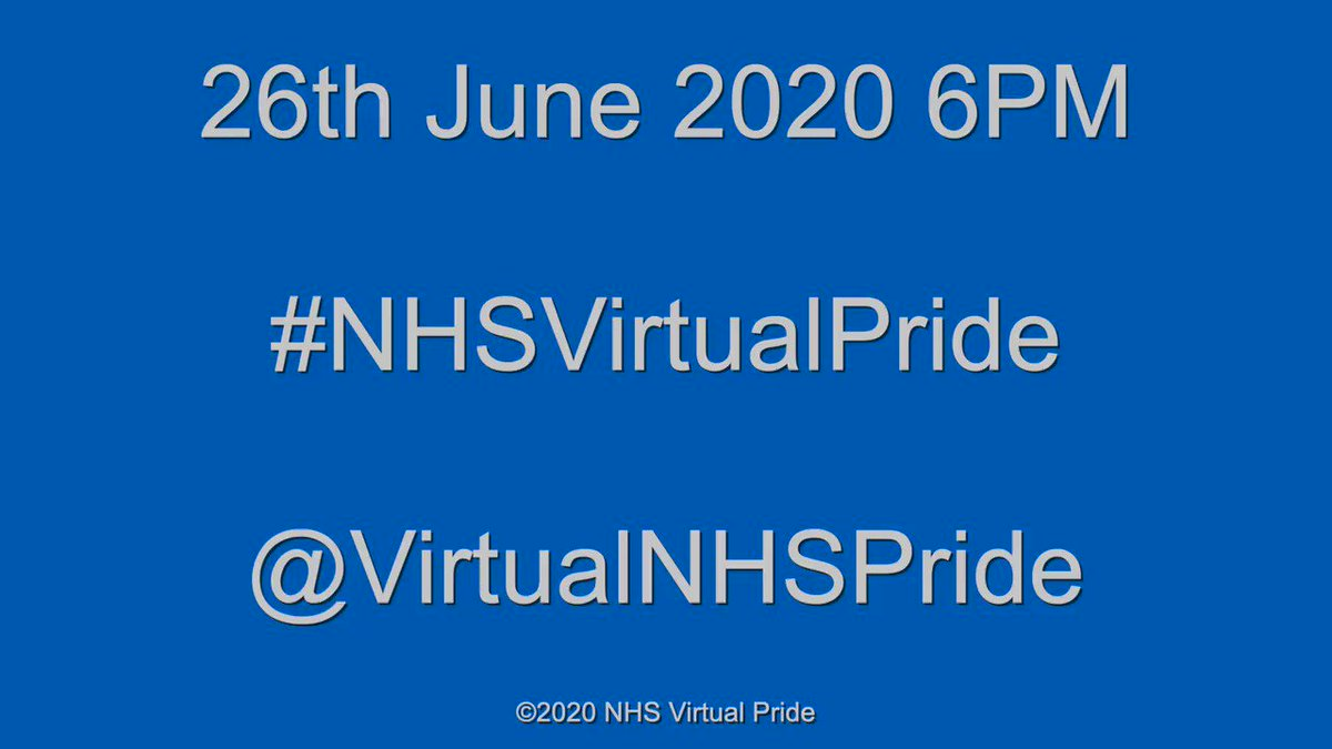 We have been very hard at work curating a show for you, Join us on June 26th for #NHSVirtualPride more details to follow watch this space. . . . . #LGBTQ #NHS #NHSheroes #transpride #BlackPride #PRIDE2020 #pride #PrideMonth2020 #Staffnetwork #EqualityForAll #EqualityMatters