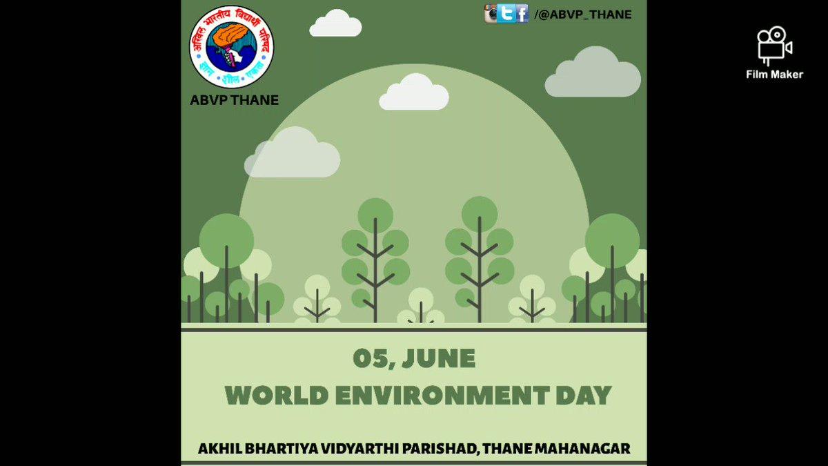 @ABVP_Thane तर्फे आज जागतिक पर्यावरण दिनाच्या निमित्ताने @sfd_in आयामाच्या अंतर्गत एक कार्यकर्ता एक रोपटं आणि टाकाऊ पासून टिकाऊ असे दोन उपक्रम राबविण्यात आले. #WorldEnvironmentDay #KonkanSFD