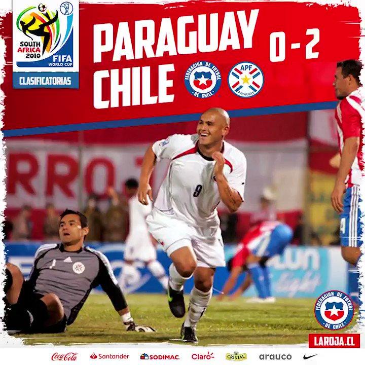 🇨🇱🔙 Este triunfo está en el corazón de #LaRoja... Después de mucho tiempo, #Chile venció a Paraguay en Asunción, el 6 de junio de 2009. Un 2⃣➖0⃣ con goles de Matías Fernández ⚽ y Humberto Suazo ⚽, que encaminó la clasificación a #Sudáfrica2010.