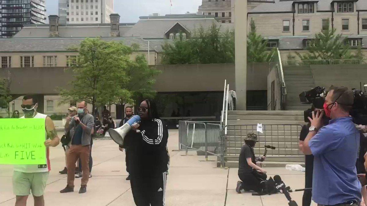Black Lives Matter at Toronto City Hall.
