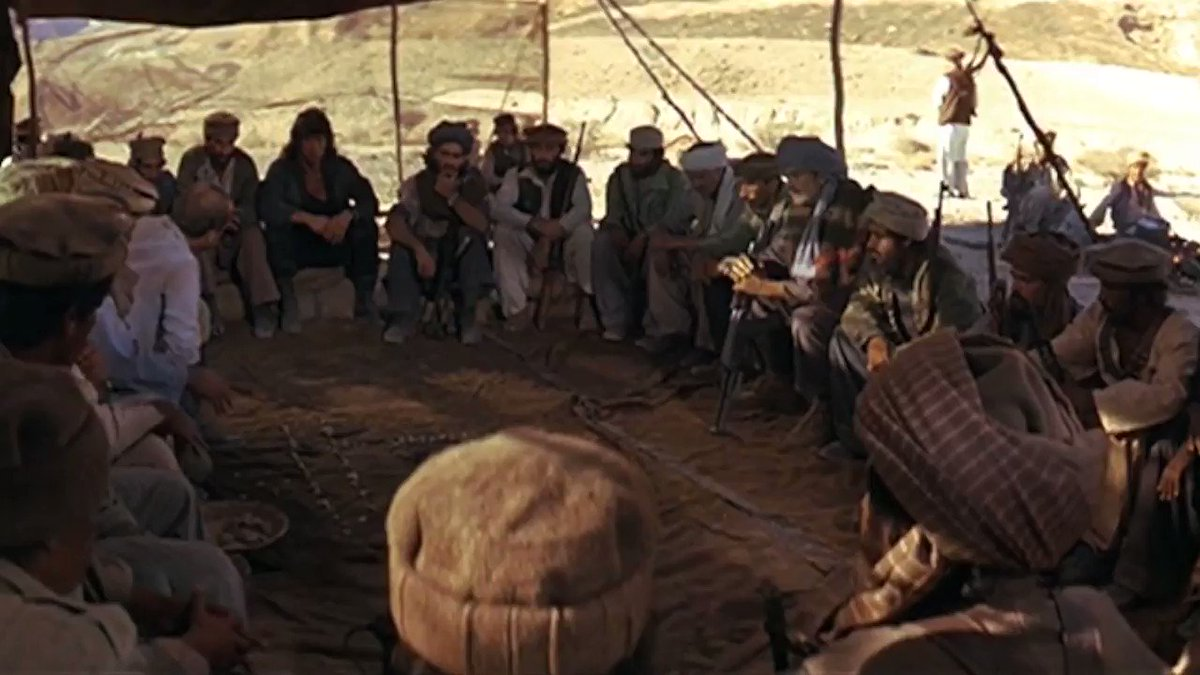 "Deleted scene: The original edit of the war room scene in ""Rambo III"" (1988) #rambo #SylvesterStallone pic.twitter.com/09PH5wmAAr"
