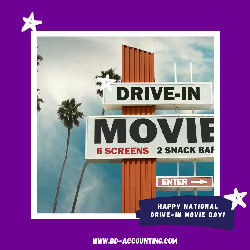 Happy National Drive-In Movie Day! Have you ever been to a drive-in movie? If so, feel free to comment what movie you watched. #driveinmovie #theaters #popcornpic.twitter.com/cNKoFxWfKb