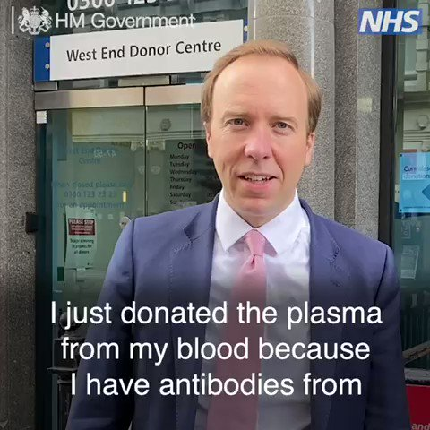 Donating plasma is easy to do with ⁦@NHSBT⁩ if you've had #coronavirus Please join our national effort and help patients by donating plasma if you've had #coronavirus