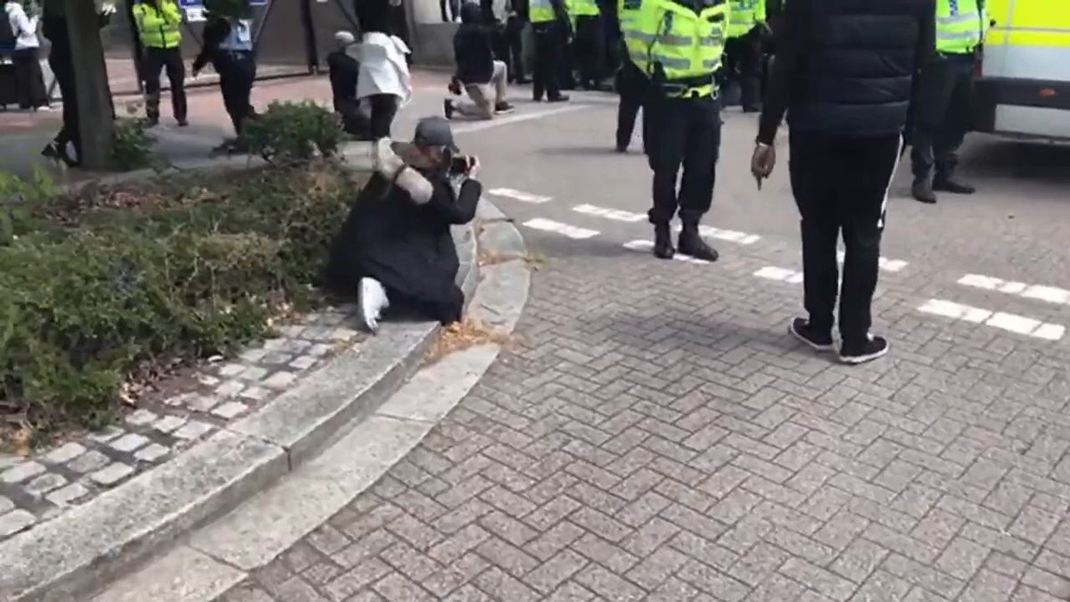 UK Police have just surrendered to the mob #TakeTheKnee