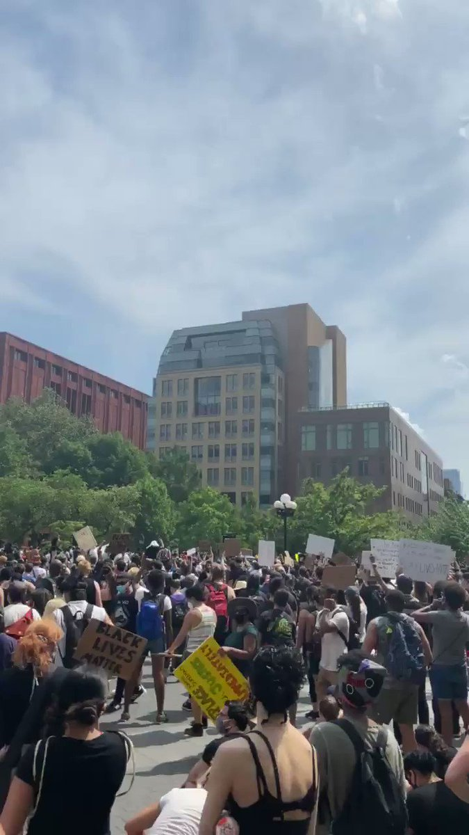 """""""America has been looting black people since we were stolen"""" speaker at Washington Square event"""
