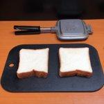 食パンをホットサンドメーカーで料理した結果
