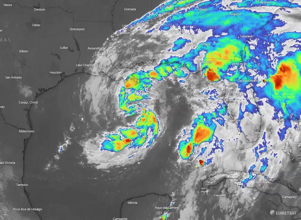 Image for the Tweet beginning: Tropical Storm #Cristobal 45/55 kts