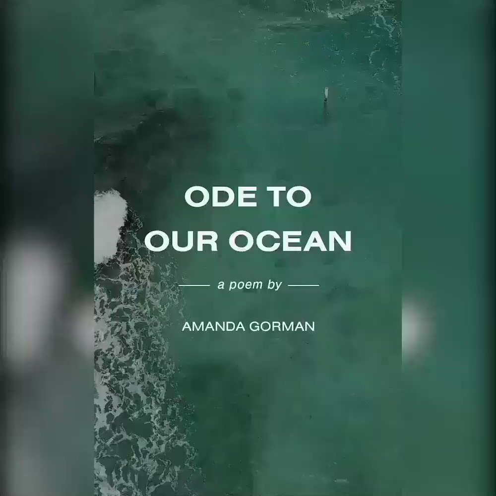 """RT to celebrate #WorldOceansDay by sharing @AmandaSCGorman's Poem, """"Ode to Our Ocean,"""" and watch the full video on our IGTV >>>   Created in collaboration by @AtmosMag, @Future___Earth, and @LonelyWhale in honor of #UNWorldOceansDay."""