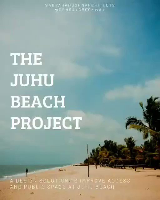 The Juhu Beach Project aims to create 3 new acres of public waterfront at the current traffic-congested beach while improving traffic flow all without land acquisition or reclamation. Amazing..Let's make it happen Mumbai !!