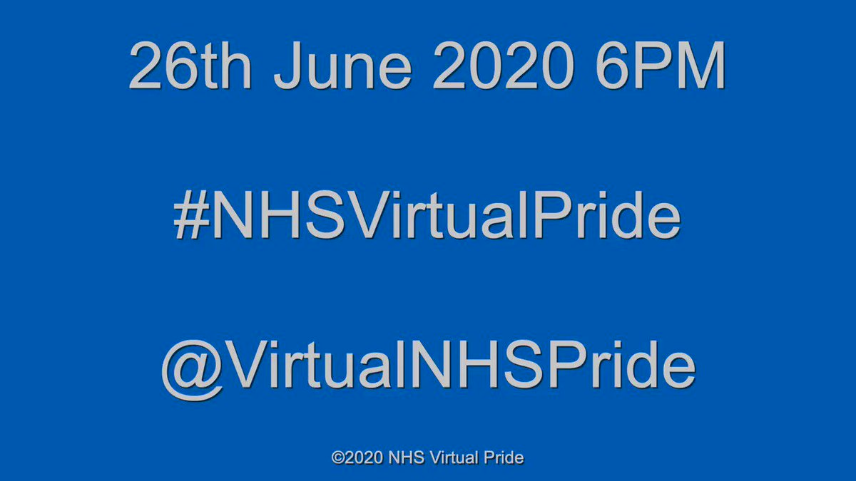 When? June 26th What? conversation throughout the day #NHSVirtualPride Then what? At 6pm the show begins.... How? A link will be published on twitter, facebook and by email cascade a couple of days before, click it, sit back, enjoy the show. . . . .