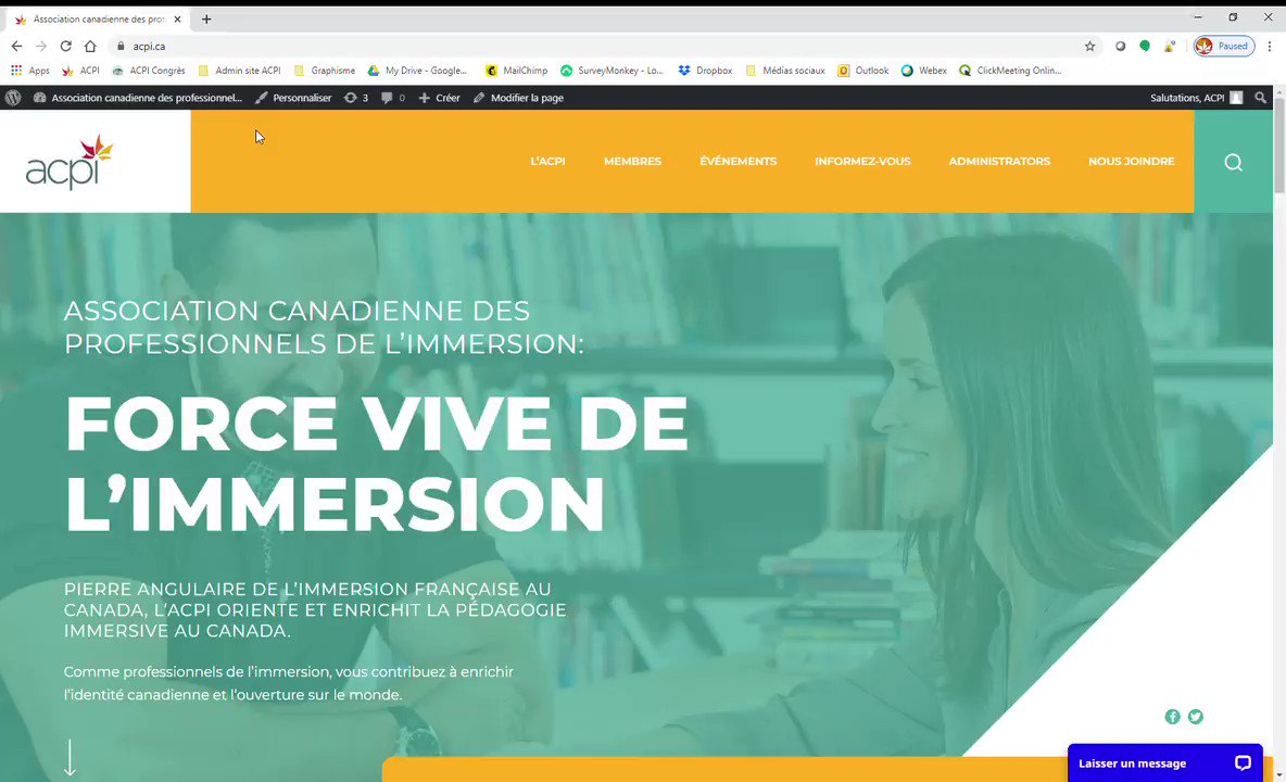 Image for the Tweet beginning: NOUVEAU SITE WEB DE L'ACPI