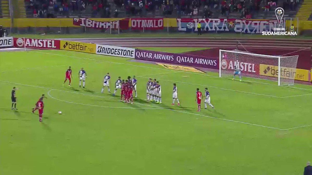 🥳¡Los golazos de la #Sudamericana 2⃣0⃣2⃣0⃣! El gran tiro libre de Hólger Matamoros para @elnacionalec. https://t.co/mPNbGDcq68