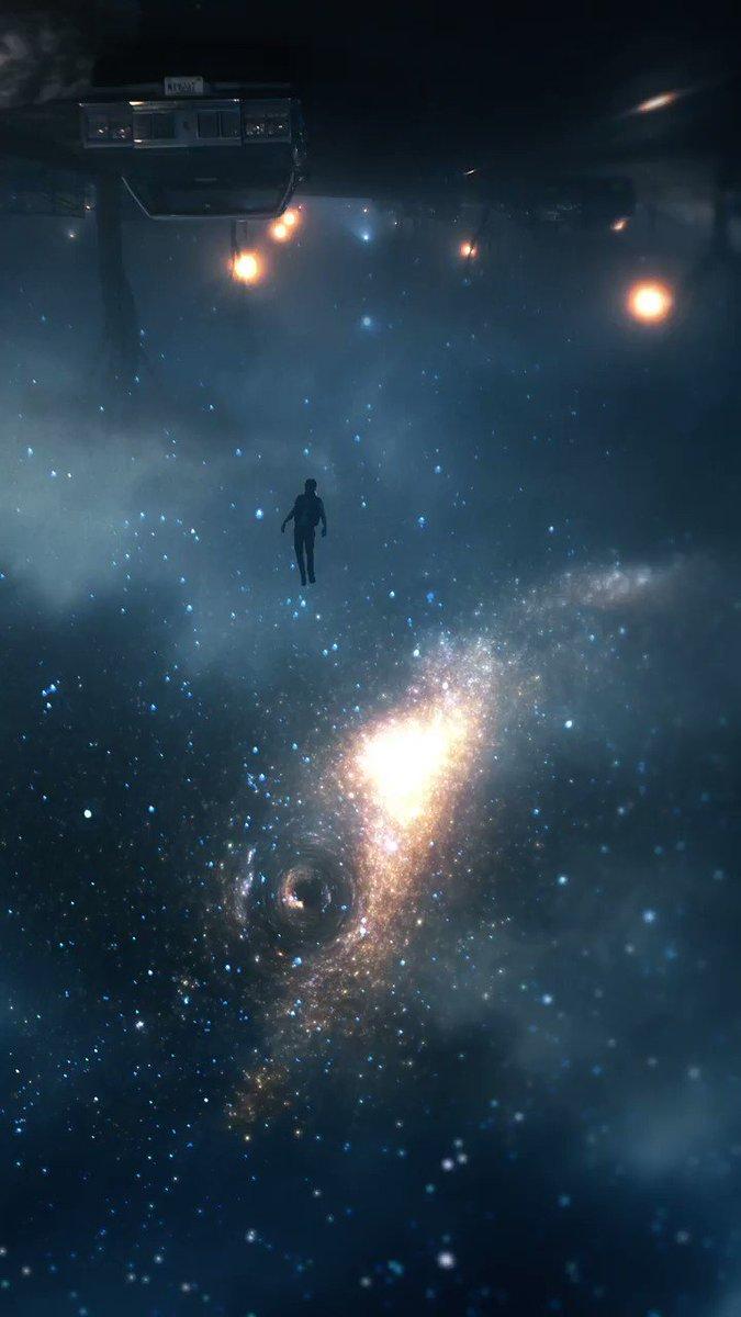 falling into a black hole