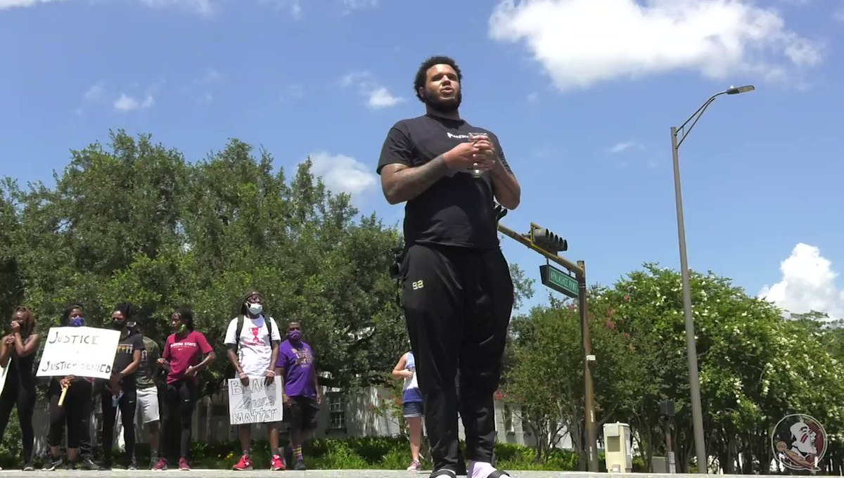 Yesterday, @FSUFootball led Tallahassee on a Unity Walk to the Florida State Capitol. Check it out ⬇️  Full 📹: https://t.co/enfJczWyP2 https://t.co/CWmfny6SUo