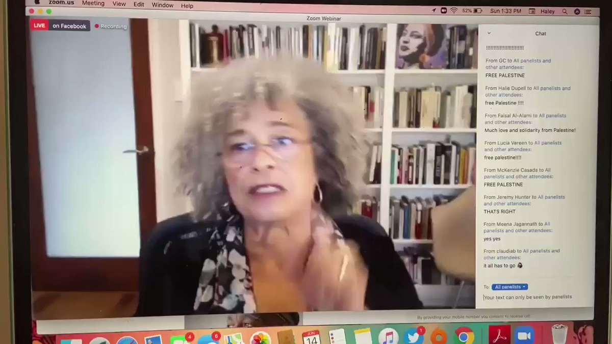 Angela Davis this afternoon on why reform is simply not enough, we need defunding and abolition: