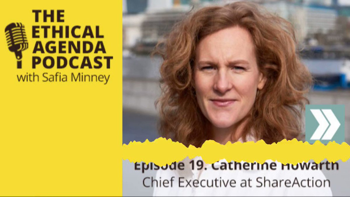 Safia talks to @ShareAction CEO Catherine Howarth in The Ethical Agenda podcast Click to listen: safia-minney.com/sm_podcasts/sa… #Podcast #TotalResolution  #ParisAgreement #ShareAction
