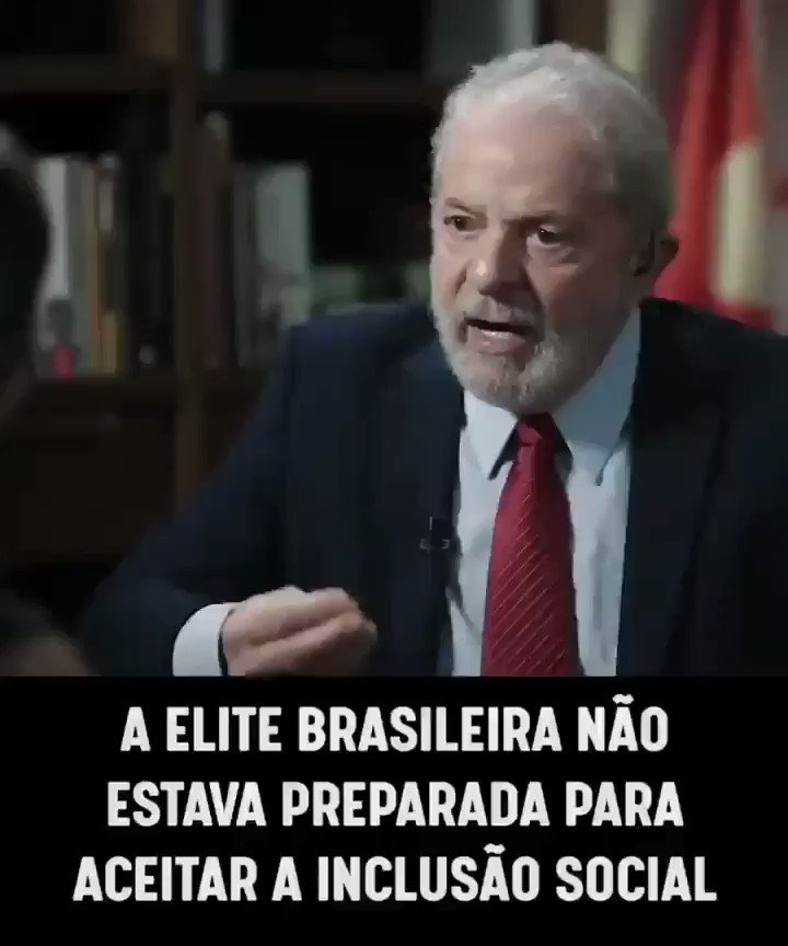 IMPERDÍVEL @LulaOficial explicando o ódio da elite brasileira aos governos petistas.