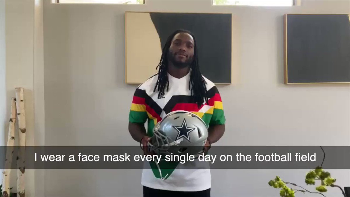 """WATCH: New PSA from Dallas Cowboys Linebacker @thejaylonsmith, """"Wear A Mask On And Off The Field. @dallascowboys 
