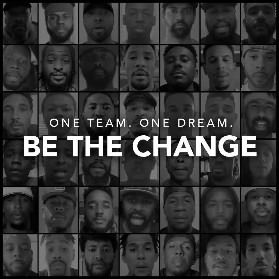 Replying to @WeAreColeture: One Team. One Dream. #Players4BLM