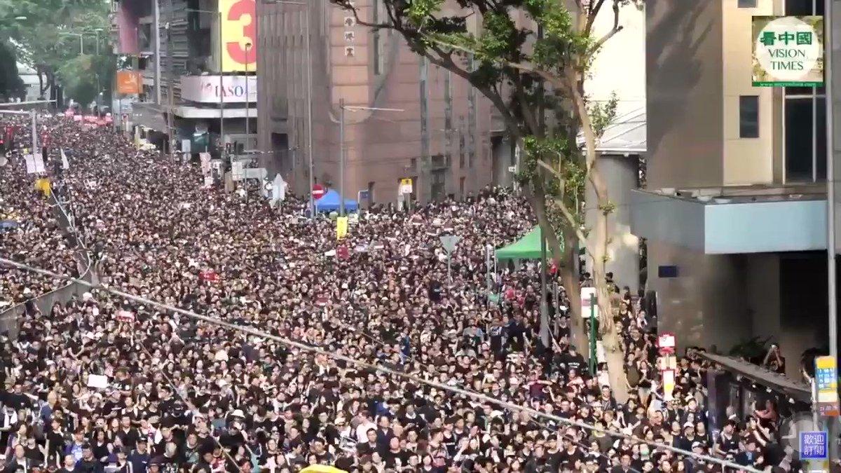 ❤ Millones de patriotas salen a manifestarse en contra del comunismo mundialista.  ➡️ HONG KONG lucha hasta las últimas consecuencias. https://t.co/fOASMPZ2n1