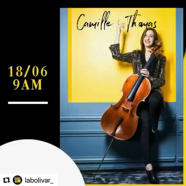 June 18 at 9AM EDT, Camille Thomas gives a virtual #masterclass for El Sistema.  To register, go to http://linktr.ee/labolivar_ Fill out the questionnaire. After checking your info, you will be sent a link and password. @CamilleThomasOF #camillethomas #camillethomascellopic.twitter.com/YadMQMAYJ9