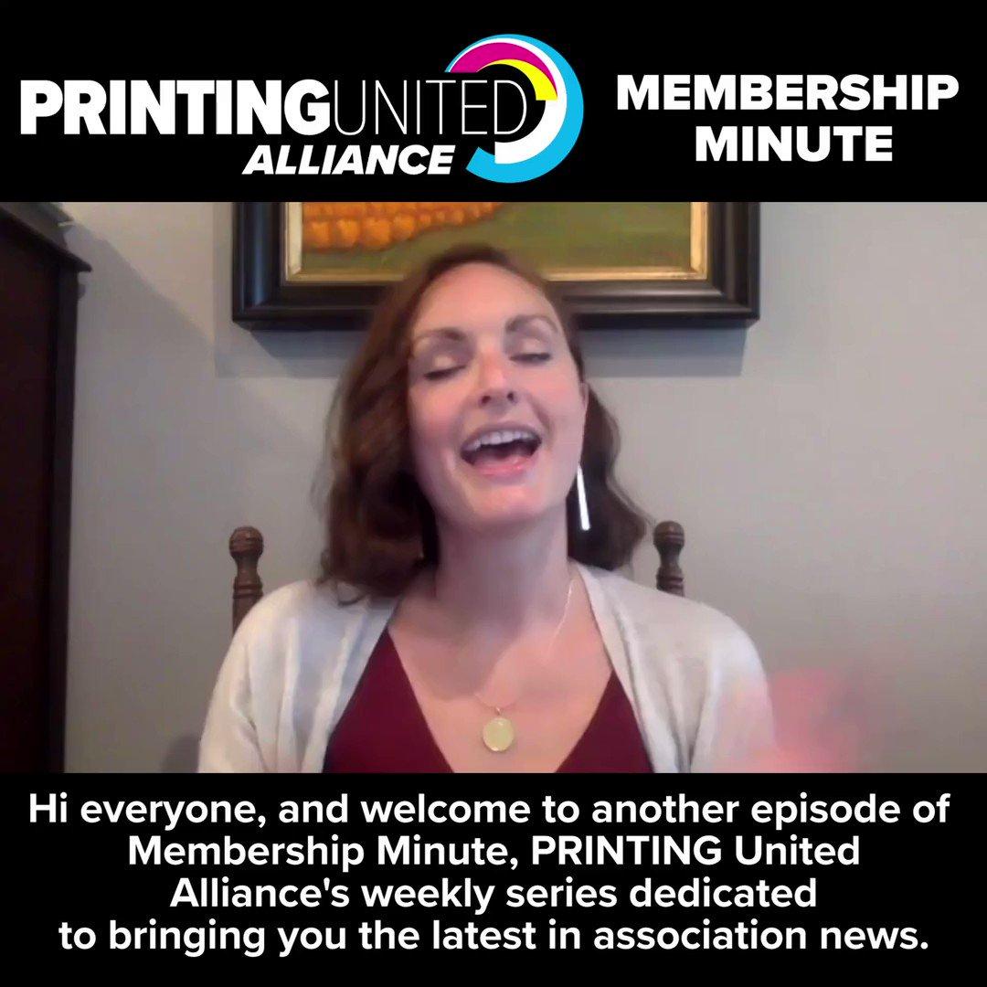 Image for the Tweet beginning: This week's #MembershipMinute highlights PRINTING