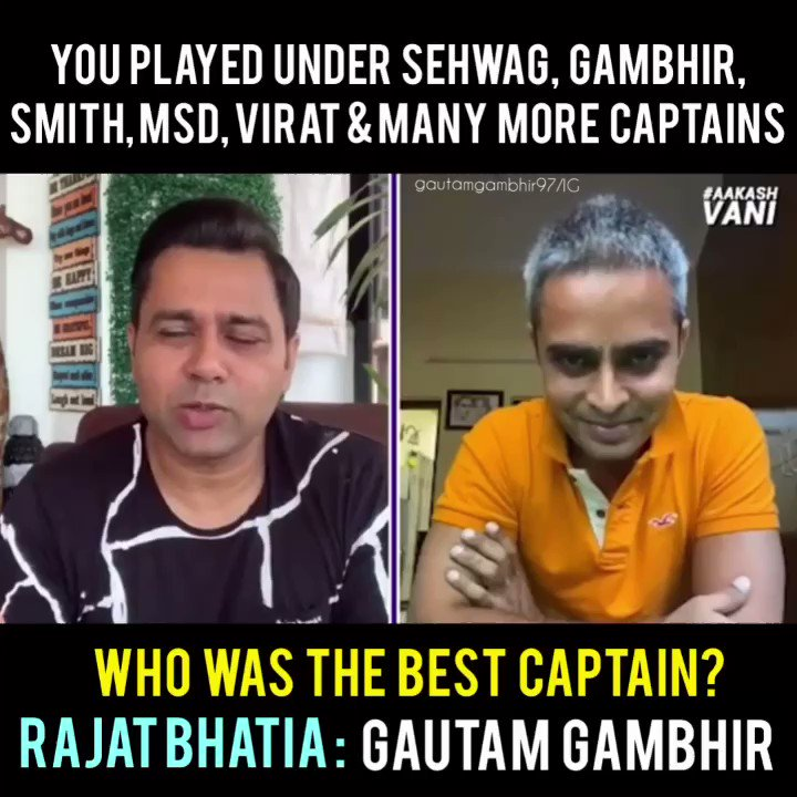 "Team Gautam Gambhir on Twitter: ""Rajat Bhatia played under many ..."