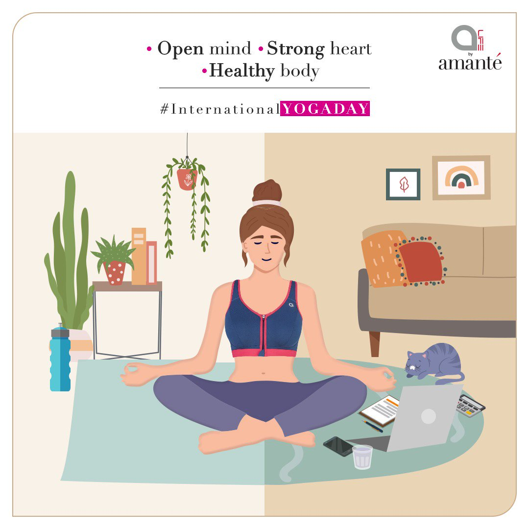 Sunshine, sweat time, & in-between coffee breaks - our #activewear moves with you anywhere, everywhere. Grab your mat & get ready to reset your #mind & #body. Breathe in. Breathe out. Be in the moment.  #amantéIndia #InternationalYogaDay #Yoga #SportsWear #Health #Peace https://t.co/PnZ5KDkTXX
