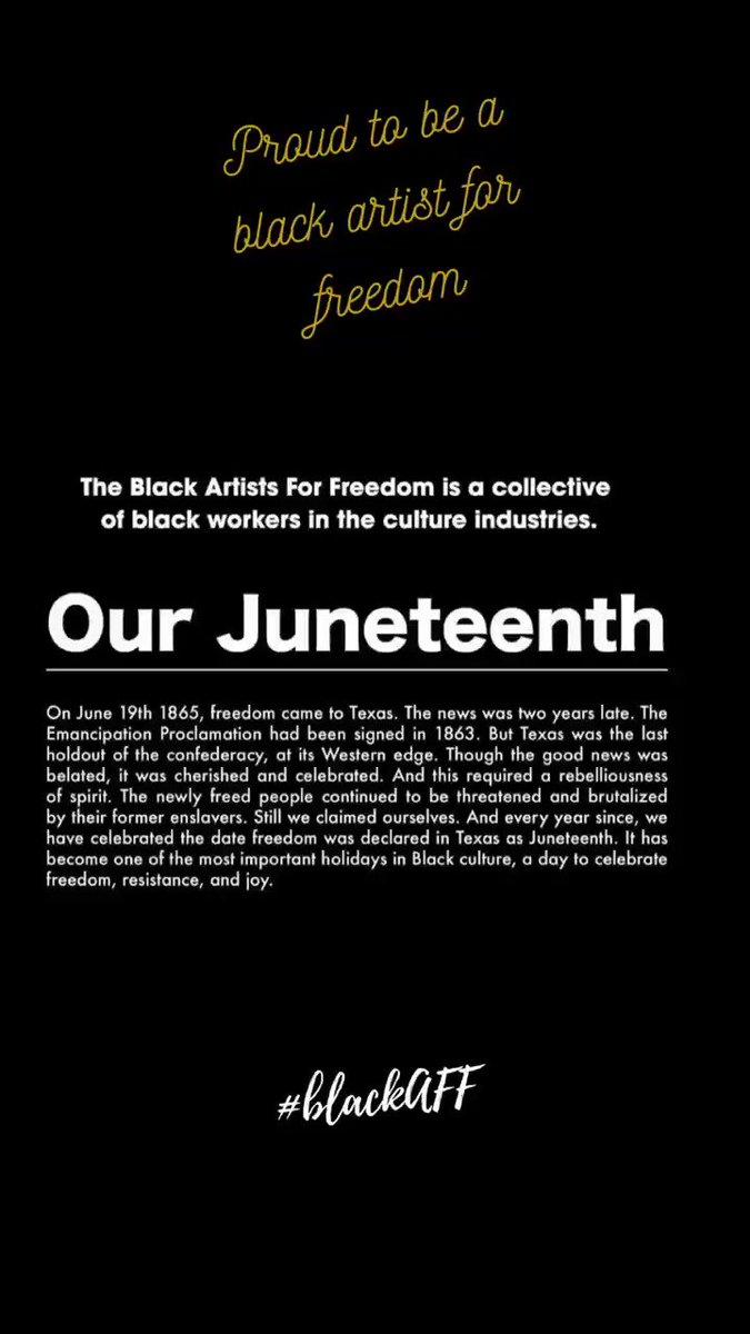 @ourjuneteenth #BlackAFF